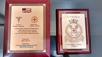Medical Assistant (Royal Navy) - USN Hospital Corpsman and Royal Navy Medical Assistant shared history.