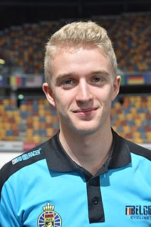 Robbe Ghys Belgian road and track cyclist