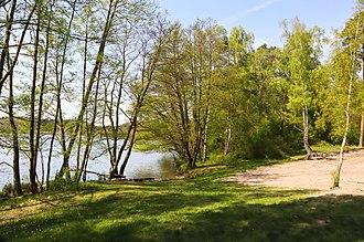 Barnim Plateau - Lake Schwärzesee near Eberswalde, Barnim, Brandenburg
