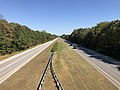 2019-09-25 14 57 15 View east along Maryland State Route 100 (Paul T. Pitcher Memorial Highway) from the overpass for Catherine Avenue in Pasadena, Anne Arundel County, Maryland.jpg