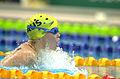 211000 - Swimming 200m medley SM7 Amanda Fraser action 2 - 3b - 2000 Sydney event photo.jpg