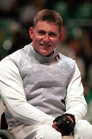 Michael Alston - Portrait of Alston at the 2000 Sydney Paralympics