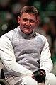 221000 - Wheelchair Fencing Michael Alston portrait - 3b - Sydney 2000 photo.jpg