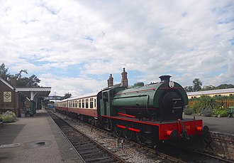 Colne Valley Railway - Castle Hedingham station on the Colne Valley Railway