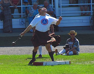 Glengarry Highland Games - Heavyweight competitor in 56 lb weight for distance event