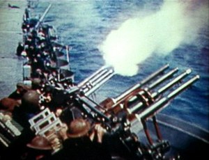 "1.1""/75 caliber gun - Image: 28 mm Flak USS Hornet (CV 8) May 1942"