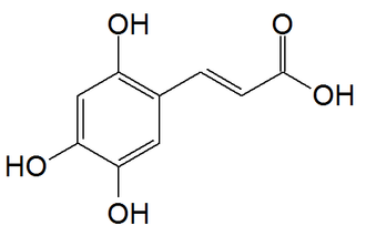2,4,5-Trihydroxycinnamic acid - Image: 3,4,6 Trihydroxycinnamic acid