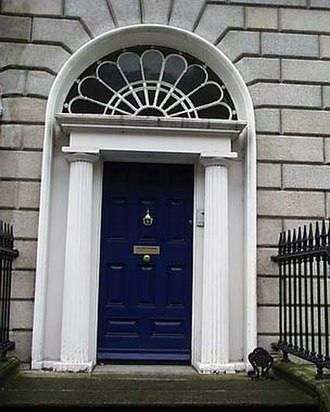 Peter Ashmun Ames - Front door of the house at 38 Upper Mount Street where Ames was killed.