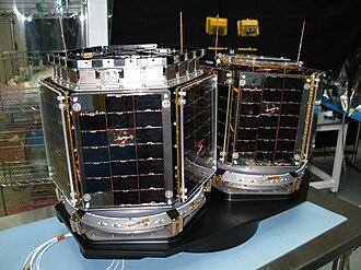 Petey (satellite) - A picture of 2 of 3CS satellites