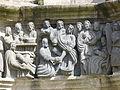 4359.Le Lavement des pieds-Fußwaschung Jesus wäscht Petrus und seinen Jüngern die Füße Calvaire-Kalvarienberg-Guimiliau-Saint Miliau-Enclos Paroissal-Umfriedeter Pfarrbezirk.JPG