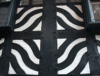 46 High Street, Nantwich - Decorative panel from Castle St face