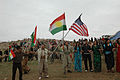 81416 Local citizens wave Kurdish and American flags during the Kurdish regional government new year's celebration in Dahuk in 2008.jpg