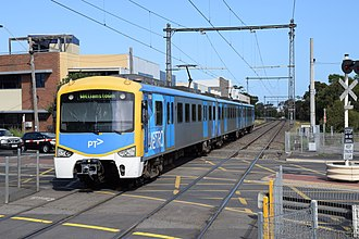 Metro Trains Melbourne - A Siemens Nexas departing North Williamstown station