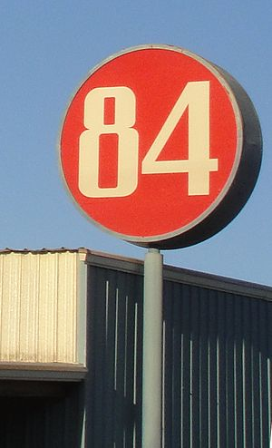 84 Lumber - Typical 84 Lumber sign