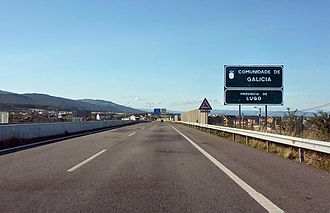 Autopista AP-8 - Galician border seen towards Guitiriz.