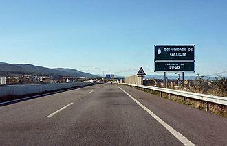 Autovía A-8 - Image: A 8 entering Galicia