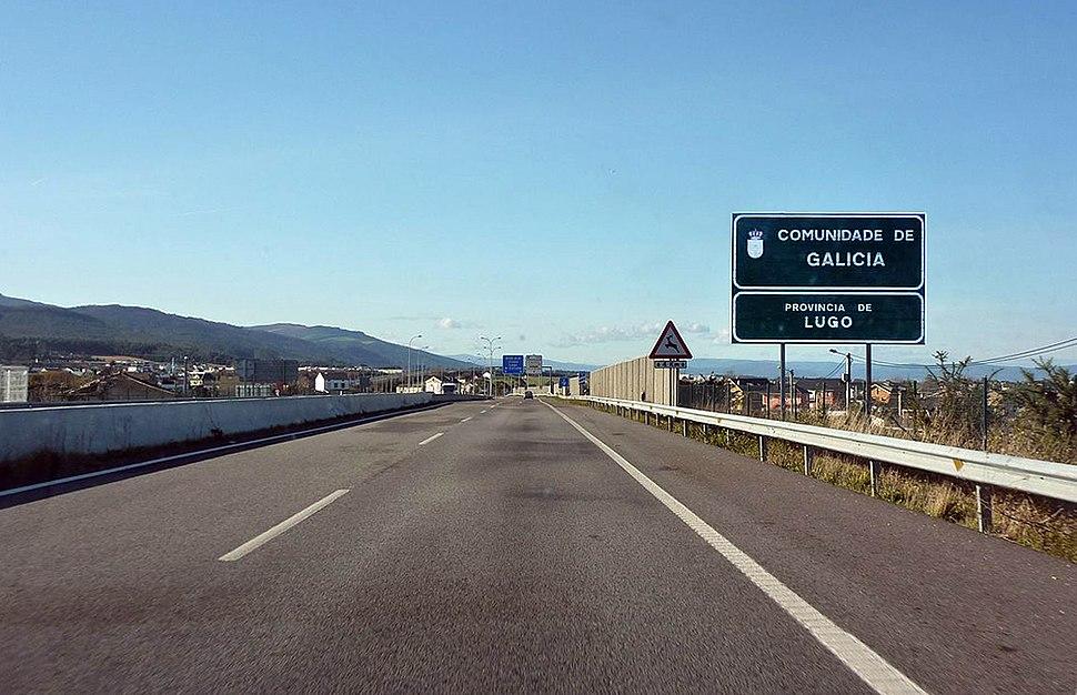 A-8 entering Galicia