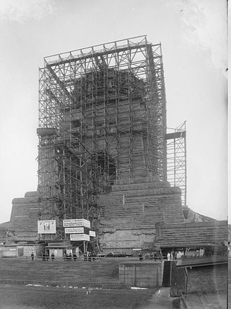 Monument to the Battle of the Nations - The monument under construction in 1912