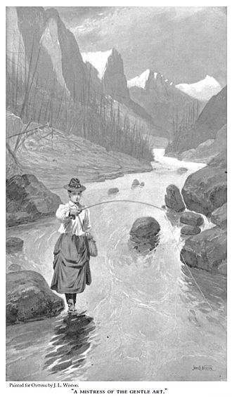 Angling in Yellowstone National Park - A Mistress of the Gentle Art from A Woman's Trout Fishing in Yellowstone Park, 1897