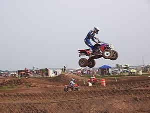 ATV (All Terrain Vehicle) racing at Gravity Pa...