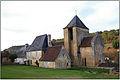 AURIAC-DU-PERIGORD (Dordogne) - Vue lointaine de l'Église Saint-Etienne.JPG