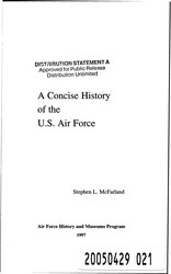 Stephen Lee McFarland: A Concise History of the U.S. Air Force