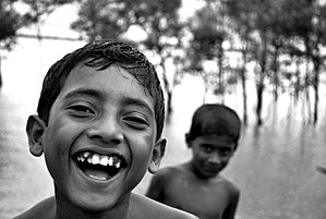 Joy - Laughter, like that of these Bangladeshi children, is a typical expression of joy.
