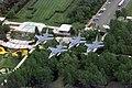A flight of four F-16 Fighting Falcons from the North Dakota Air National Guard, Fargo, North Dakota, pass over the International Peace Gardens at the North Dakota Canadian Border o - DPLA - a62b13dc23e2ea2a28d52219b0ce6c5e.jpeg