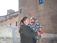 A gipsy woman with her child.JPG