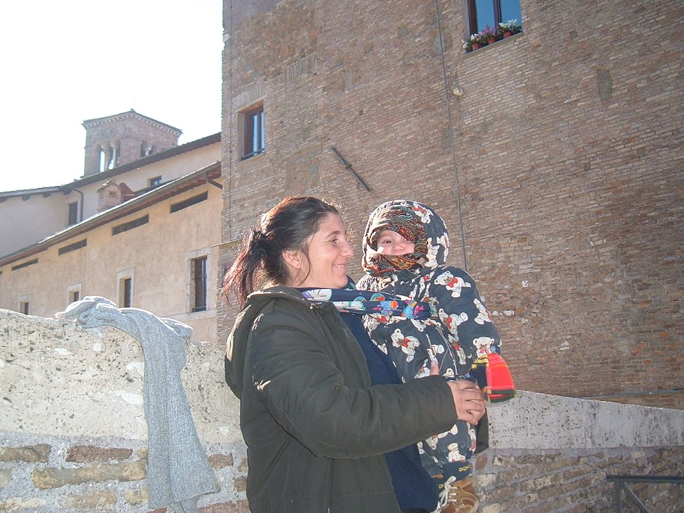 A gipsy woman with her child
