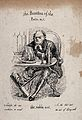A gouty vicar dining on meat and wine. Etching by T. Best. Wellcome V0010863.jpg