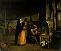 A lady visiting an alchemist in his laboratory. Oil painting Wellcome V0017657.jpg