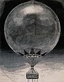 A large hot-air balloon with a basket carrying many people. Wellcome V0040881.jpg