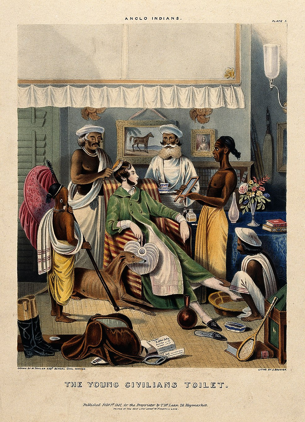 A male Anglo-Indian being washed, dressed and attended by fi Wellcome V0019936
