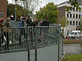 A photo of students walking over the bridge on the campus Roeterseiland, Amsterdam; high resolution image by FotoDutch in June 2013.jpg