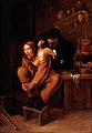 A surgeon applying medicine to a wound in the shoulder of a Wellcome L0027284.jpg