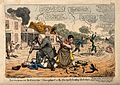 A veterinary surgeon and a blacksmith attacking dandies on bicycles; representing the anti-bicycle movement. Wellcome V0011082.jpg