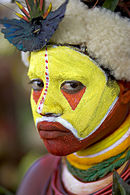 A woman of Papua New Guinea with facepaint.jpg