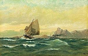 Martin Aagaard - Image: Aagaard martin 1863 1913 norwa skibsmotiv med klippebaggrund