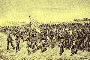 Pasoemah Expedition - Aanval van de troepen op Penandingan.