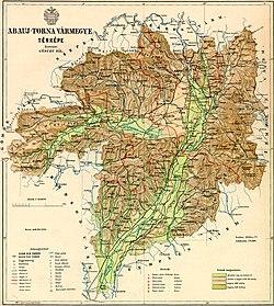 devecser domborzati térkép Abaúj Torna vármegye – Wikipédia devecser domborzati térkép