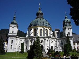 Ettal Abbey - Ettal Abbey church facade