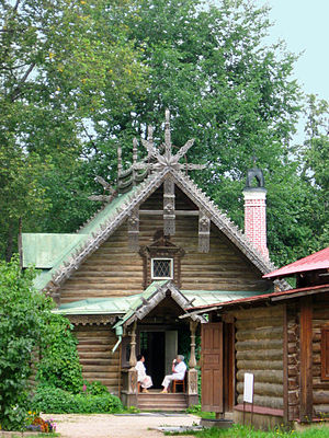 Abramtsevo Colony - One of the wooden buildings in Abramtsevo.This one hosts Vrubel's collection of folk art