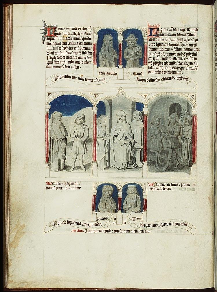 Absalom conspires against David