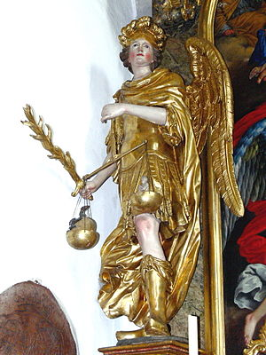 Divine judgment - St. Michael weighing souls, Abtenau