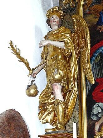 Divine judgment - St. Michael weighing souls, Abtenau
