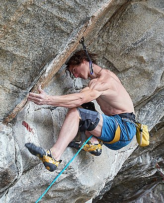 Flatanger - Adam Ondra climbing the route Silence, in Flatanger