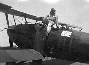 Adel Amin Hafez - Image: Adel Hafez with his Hawker Audax (Hart variant)