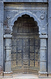 Adina Mosque central mihrab on large basalt wall