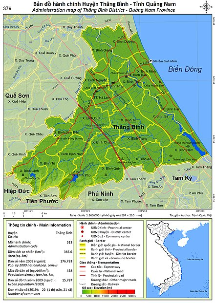 Administration map of Thang Binh District Administration map of Thang Binh District, Quangnam Province.jpg